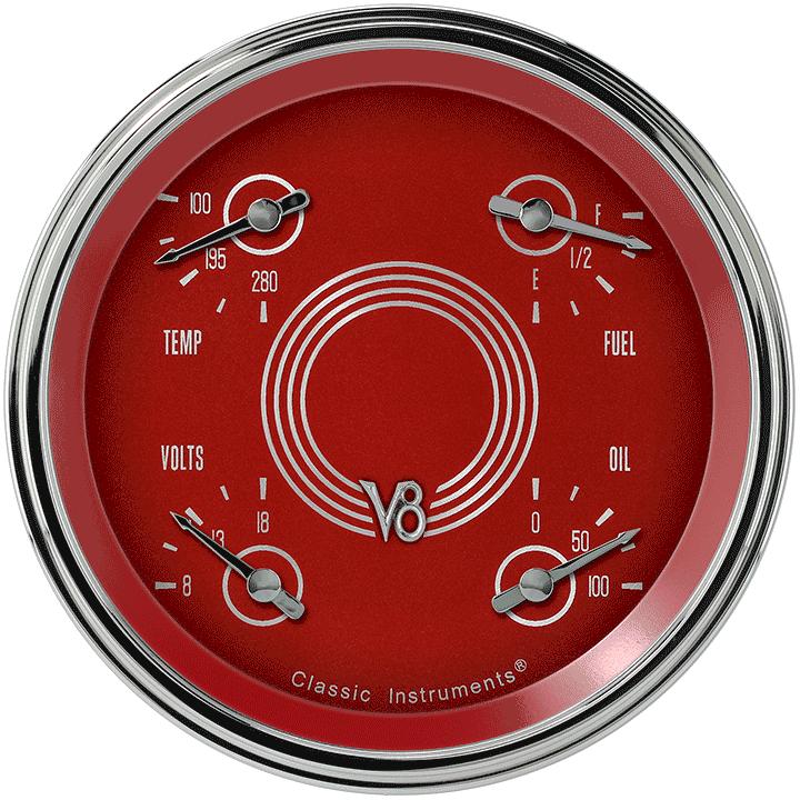 "Picture of V8 Red Steelie 4 5/8"" Quad"