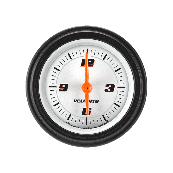 "Picture of Velocity White 2 1/8"" Clock"