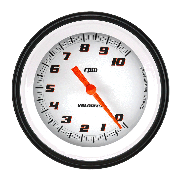 "Picture of Velocity White 3 3/8"" Tachometer"