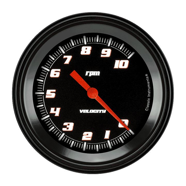 "Picture of Velocity Black 3 3/8"" Tachometer"