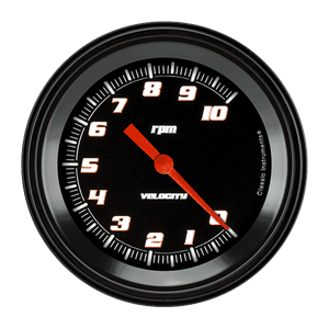"Picture of Velocity Black 3 3/8"" Tachometer"