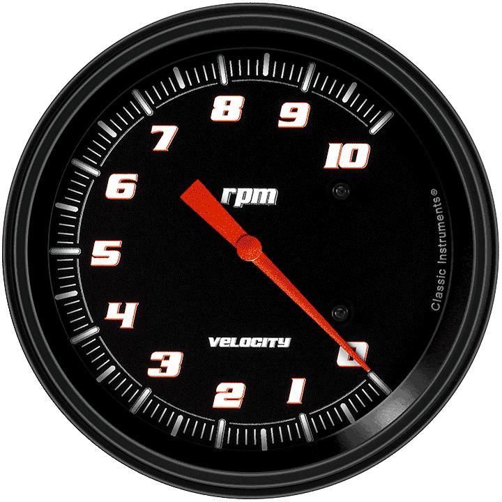 "Picture of Velocity Black 4 5/8"" Tachometer"