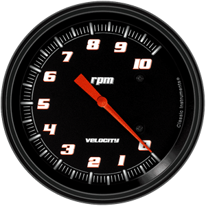 "Picture of Velocity Black 4 5/8"" Tachometer"