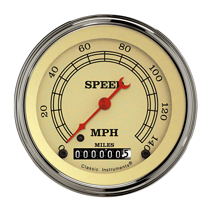 "Picture of Vintage 3 3/8"" Speedometer"