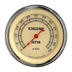 """Picture of Vintage 3 3/8"""" Tachometer"""