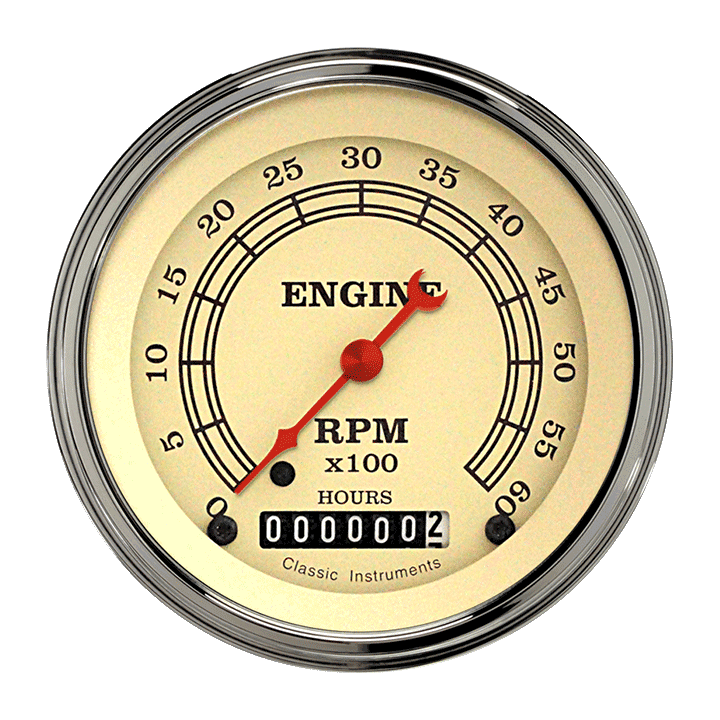 "Picture of Vintage 3 3/8"" Tachometer"