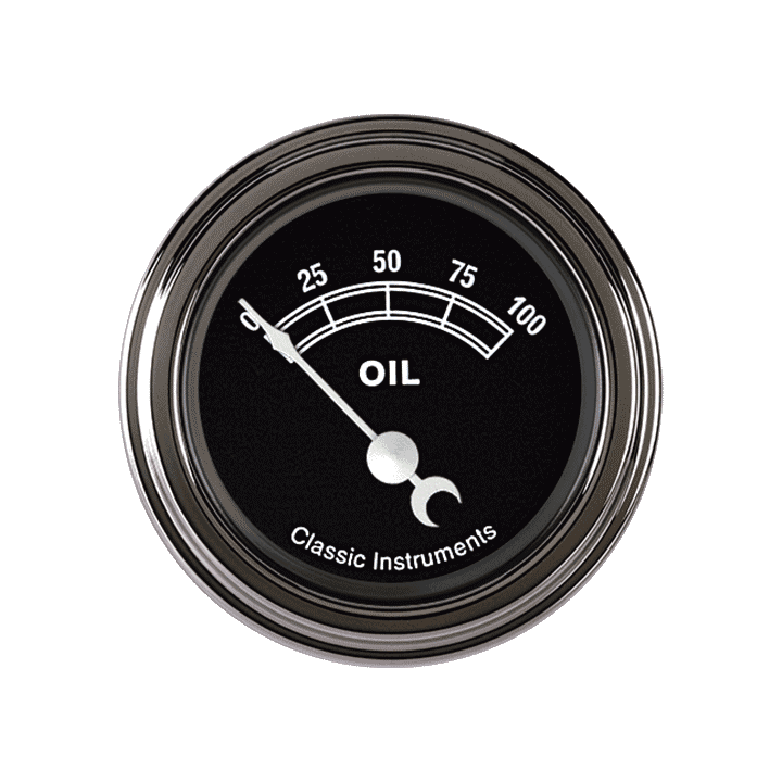 "Picture of Traditional 2 1/8"" Oil Pressure"