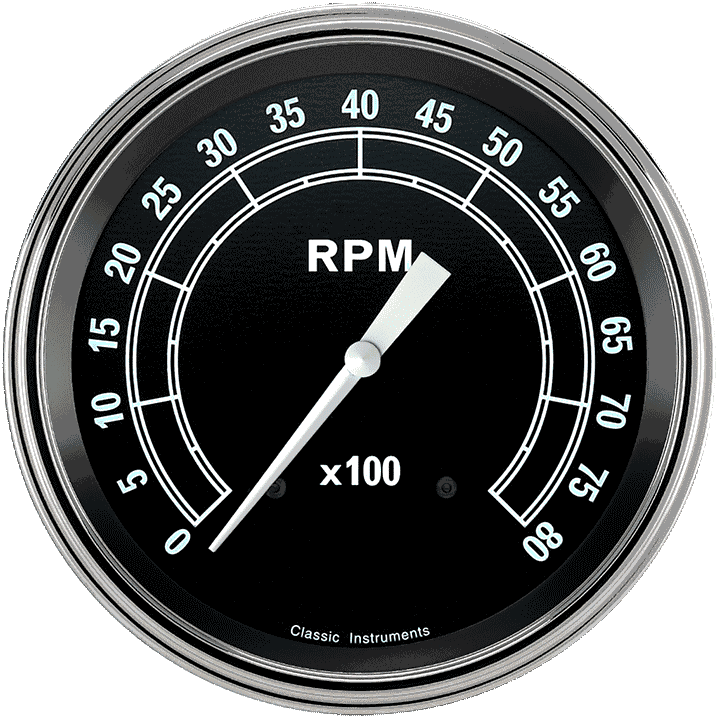 """Picture of Traditional 4 5/8"""" Tachometer"""