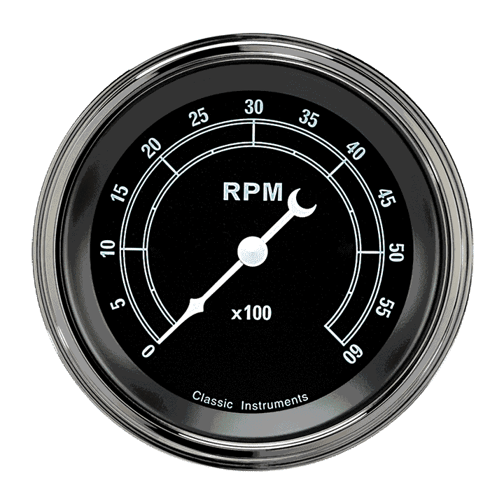 """Picture of Traditional 3 3/8"""" Tachometer"""
