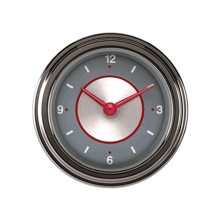 "Picture of Silver Series 2 1/8"" Clock"
