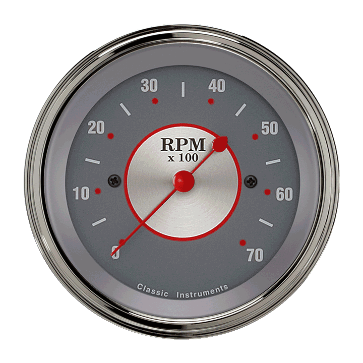 "Picture of Silver Series 3 3/8"" Tachometer"