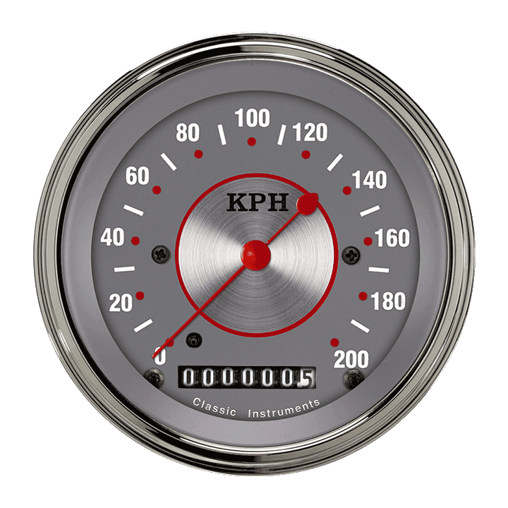 "Picture of Silver Series 3 3/8"" Speedometer"