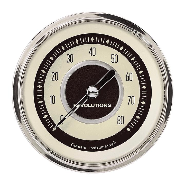 """Picture of Nostalgia VT 3 3/8"""" Tachometer"""