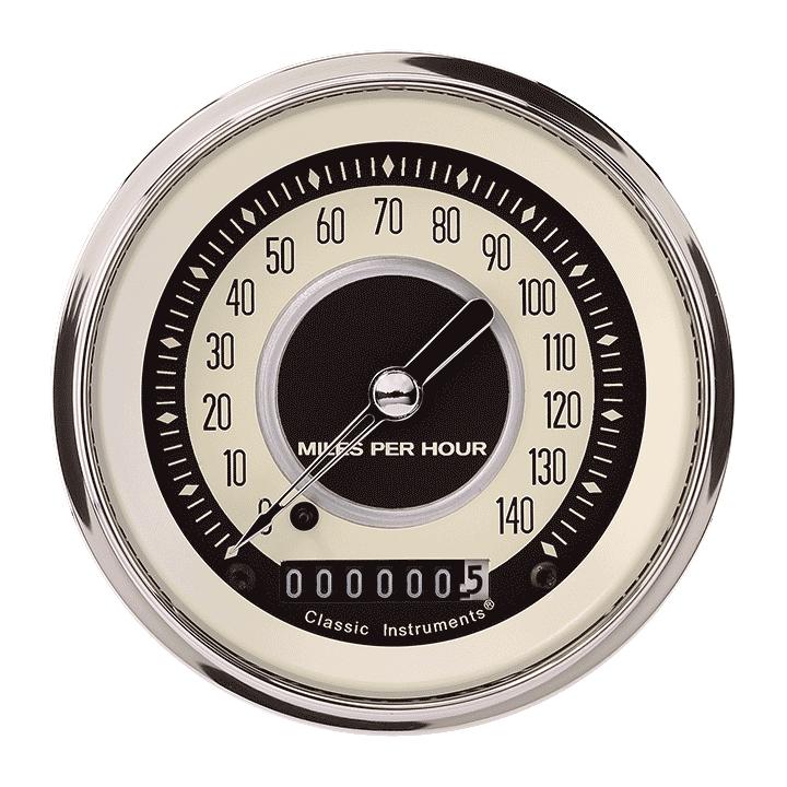 """Picture of Nostalgia VT 3 3/8"""" Speedometer"""