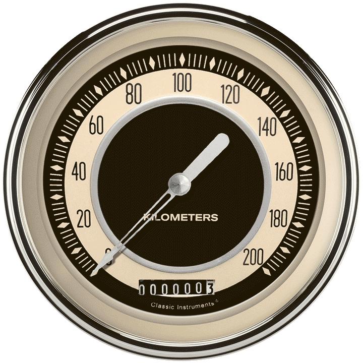 """Picture of Nostalgia VT 4 5/8"""" Speedometer"""