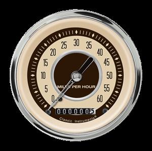 "Picture of Nostalgia VT 3 3/8"" Low Speed Speedometer"