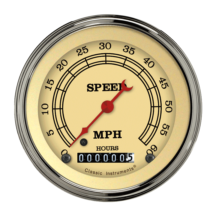 "Picture of Vintage 3 3/8"" Low Speed Speedometer"