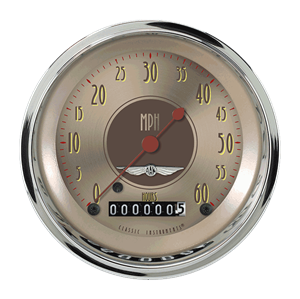 """Picture of All American Nickel 3 3/8"""" Low Speed Speedometer"""