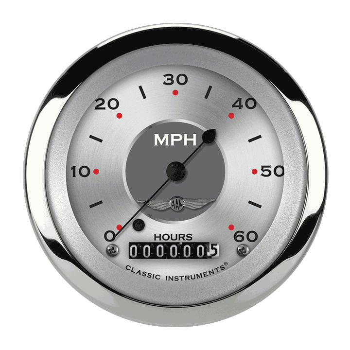 "Picture of All American 3 3/8"" Low Speed Speedometer"