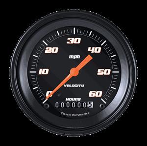 """Picture of Velocity Black 3 3/8"""" Low Speed Speedometer"""