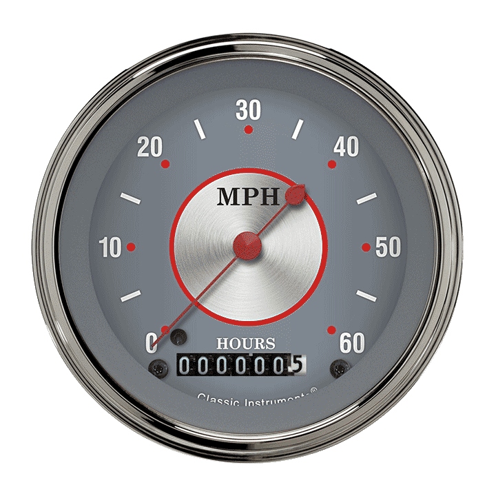 "Picture of Silver Series 3 3/8"" Low Speed Speedometer"