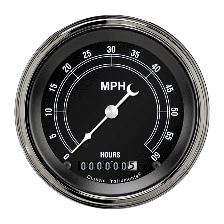 "Picture of Traditional 3 3/8"" Low Speed Speedometer"