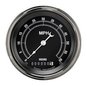"""Picture of Traditional 3 3/8"""" Low Speed Speedometer"""