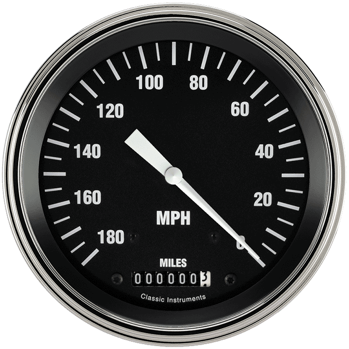 "Picture of Hot Rod 4 5/8"" Speedometer"
