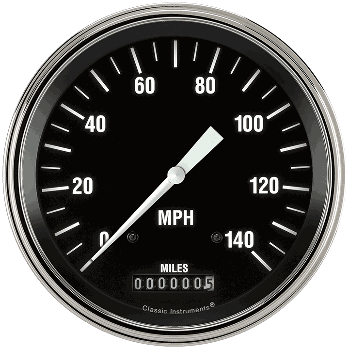 """Picture of Hot Rod 4 5/8"""" Speedometer"""