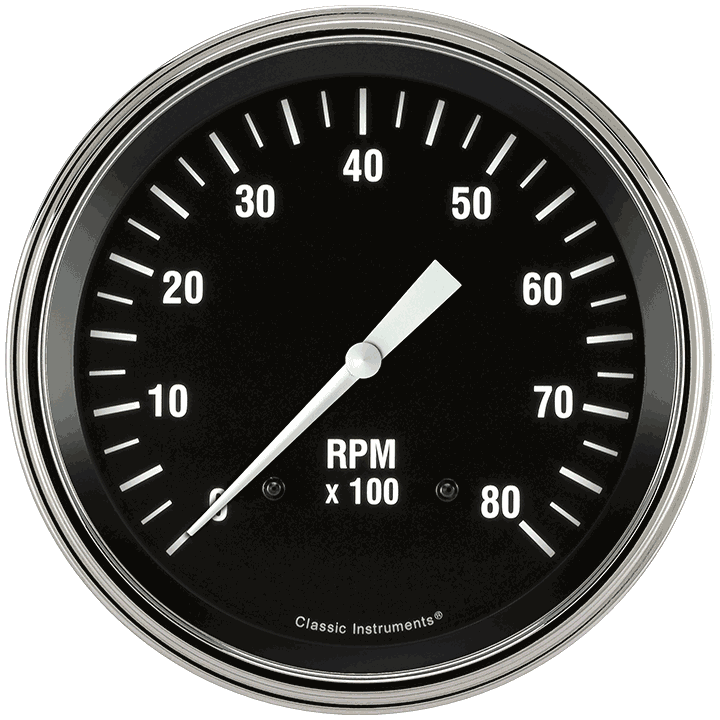 """Picture of Hot Rod 4 5/8"""" Tachometer"""