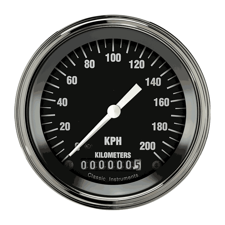 """Picture of Hot Rod 3 3/8"""" Speedometer"""