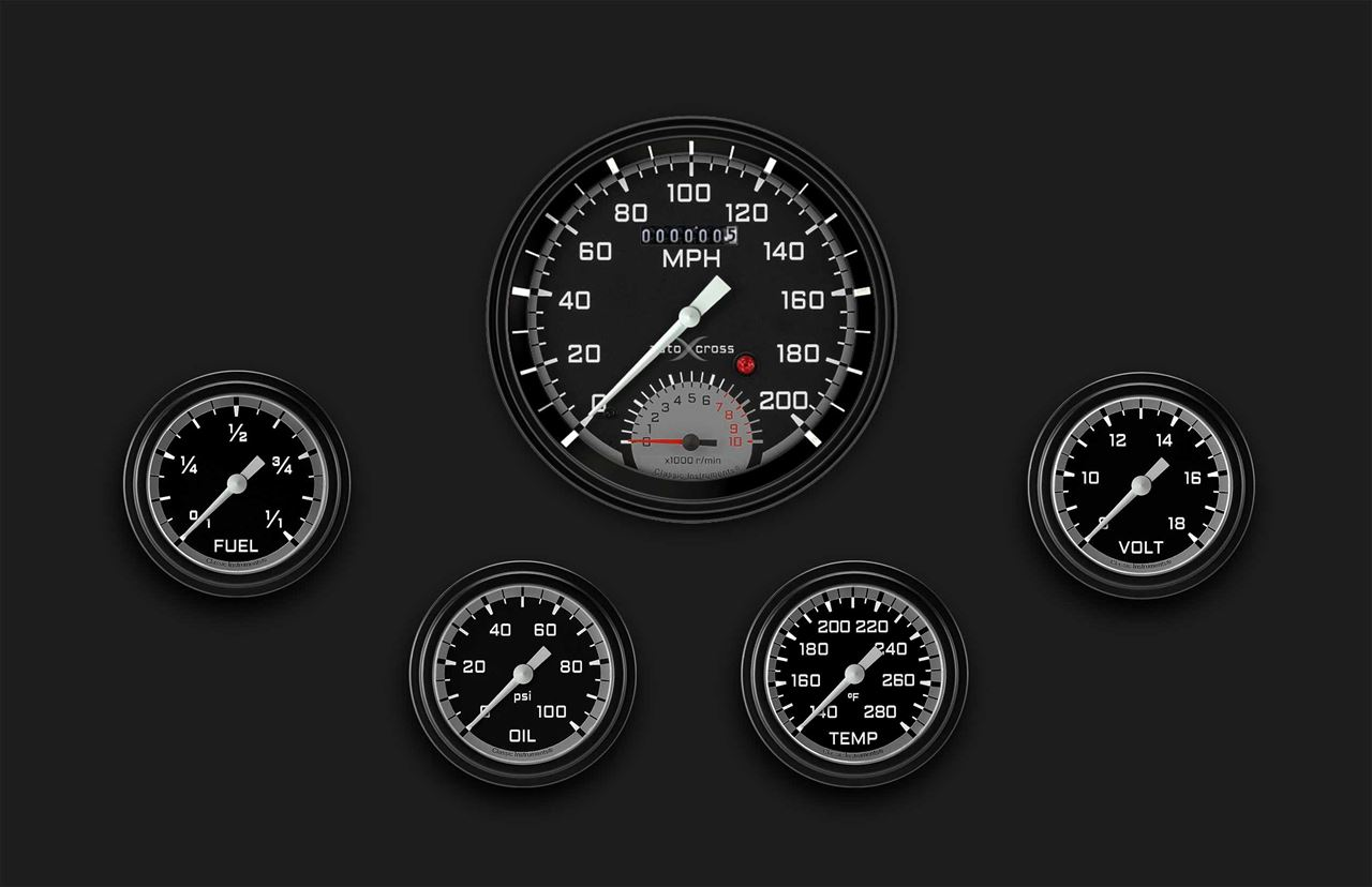 Picture of AutoCross Gray Five Gauge Set 365
