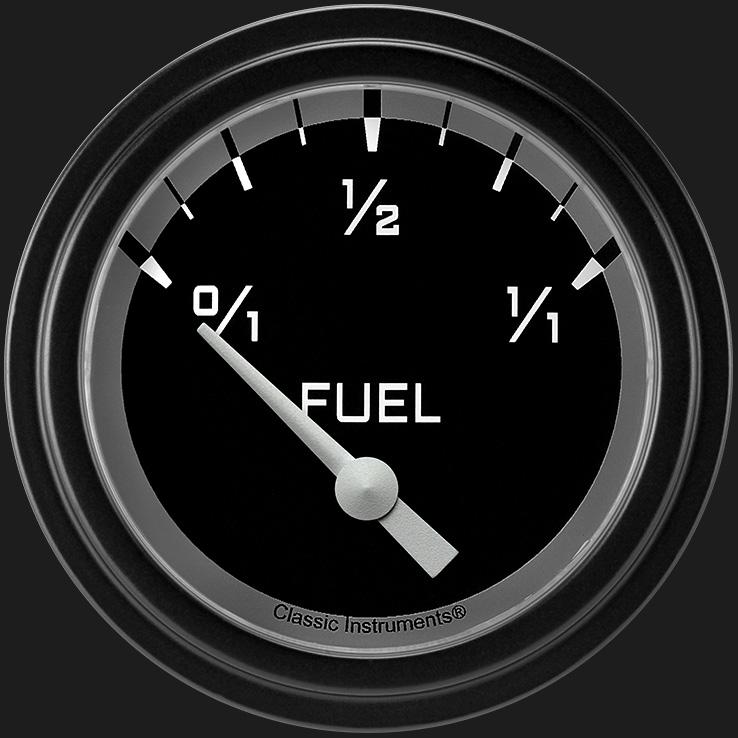 "Picture of Autocross Gray 2 5/8"" Fuel Gauge, 0-30 ohm"