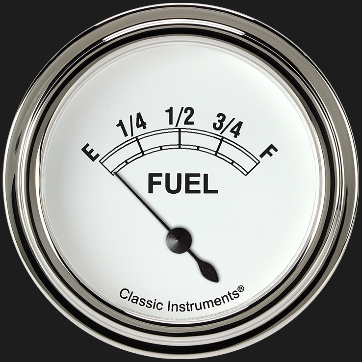"Picture of Classic White 2 5/8"" Fuel Gauge"