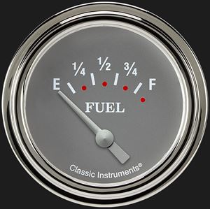 """Picture of Silver Gray 2 5/8"""" Fuel Gauge"""