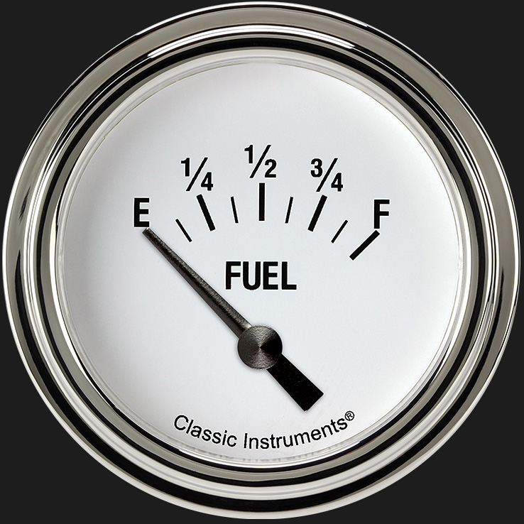 "Picture of White Hot 2 5/8"" Fuel Gauge"