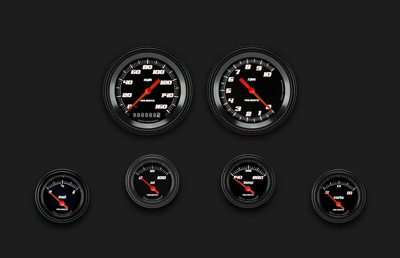 Picture of Velocity Black Six Gauge Set 01