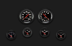 Picture of Velocity Black Six Gauge Set 01