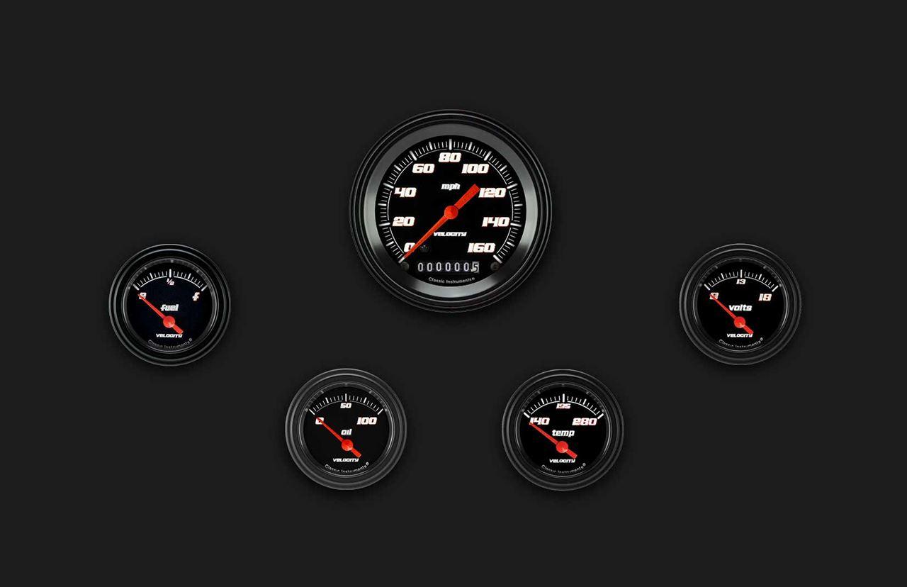 Picture of Velocity Black Five Gauge Set 00