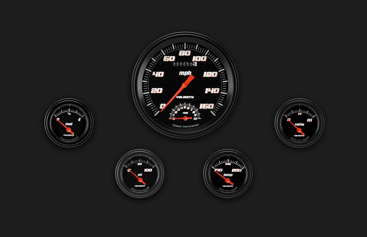 Picture of Velocity Black Five Gauge Set 65