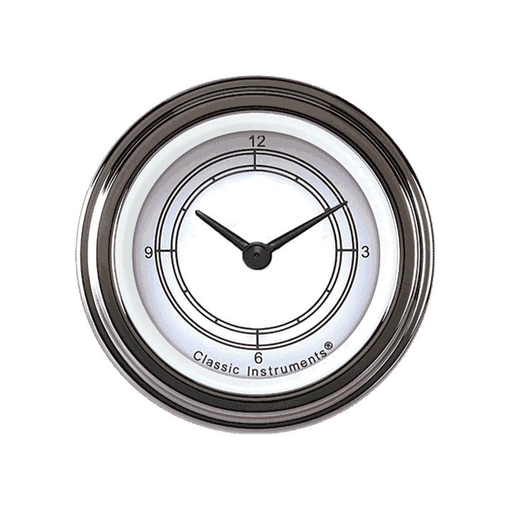 "Picture of Classic White 2 1/8"" Clock"
