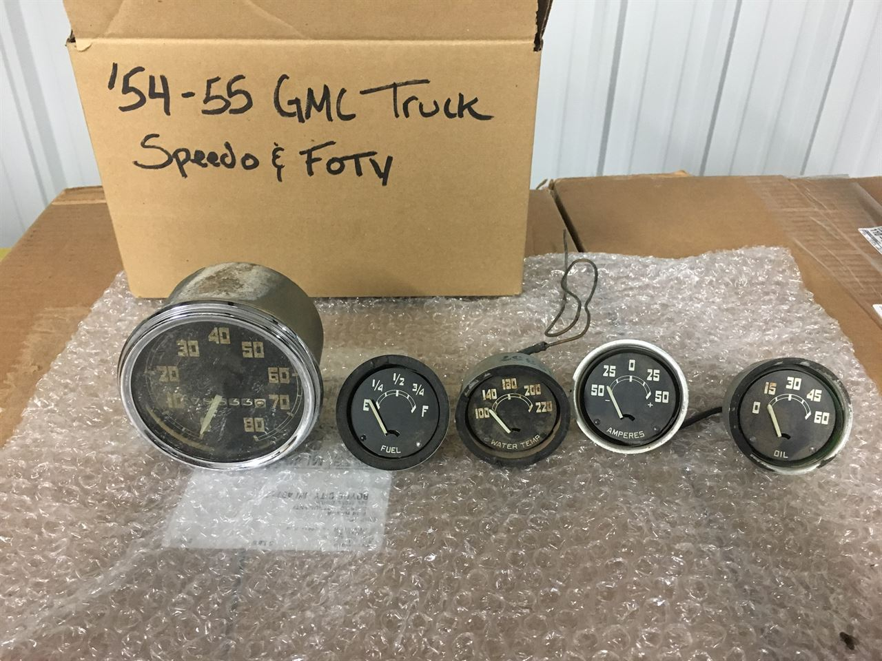 Picture of 1954-55 GMC Truck Speedo and FOTV