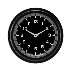 """Picture of AutoCross Gray 2 5/8"""" Clock"""