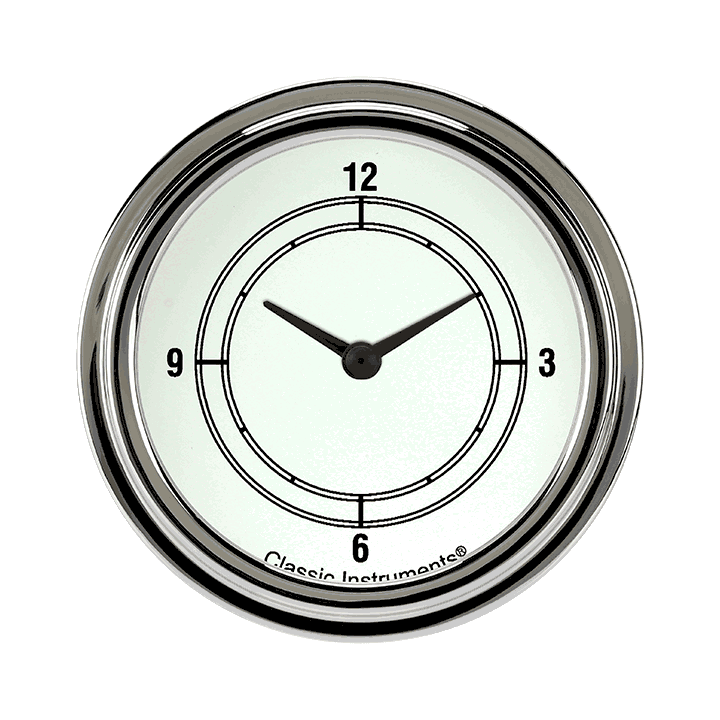 "Picture of Classic White 2 5/8"" Clock"