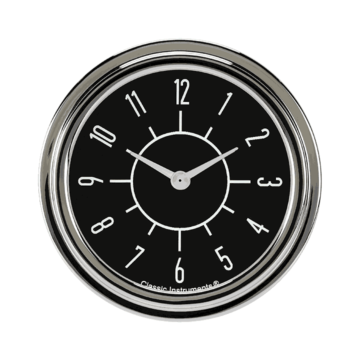 "Picture of 6-Pack Matching Black 2 5/8"" Clock"