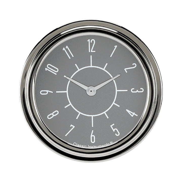 "Picture of 6-Pack Matching Gray 2 5/8"" Clock"