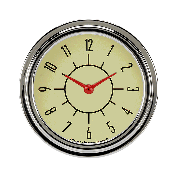 "Picture of 6-Pack Matching Tan 2 5/8"" Clock"