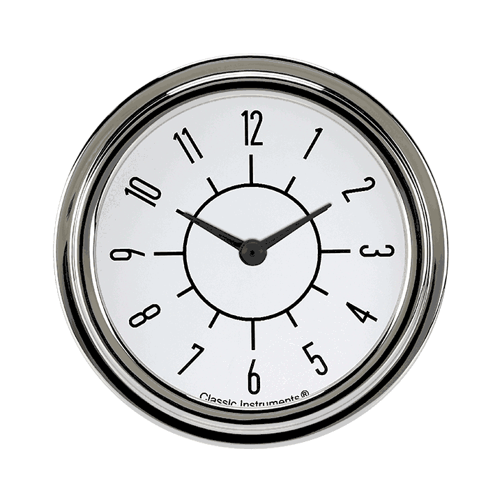 "Picture of 6-Pack Matching White 2 5/8"" Clock"