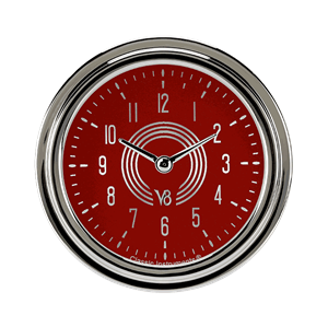 """Picture of V8 Red Steelie 2 5/8"""" Clock"""