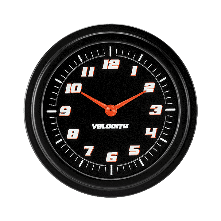 "Picture of Velocity Black 2 5/8"" Clock"